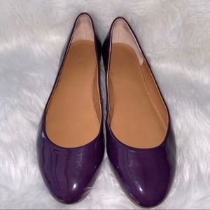 J Crew Purple Patent Leather Flats Size 9